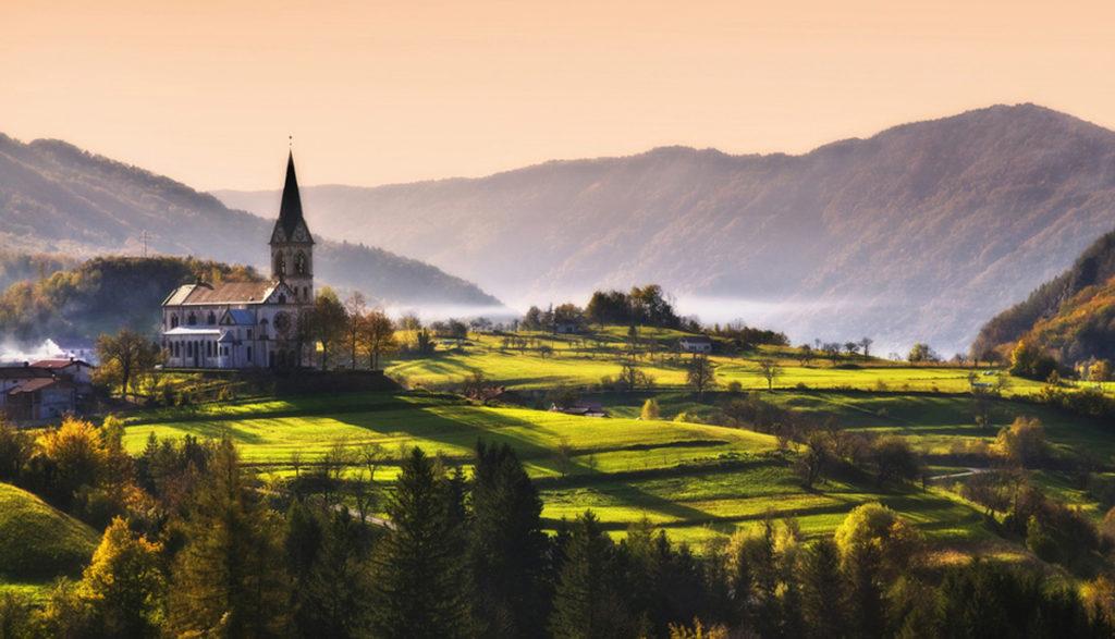 Кобарид,_Словения