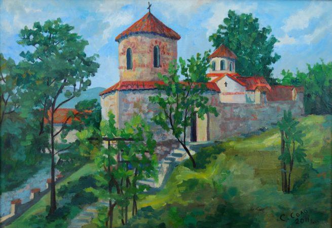 Светлана Соло. Монастырь Св. Атанасия.2011, картон,х. (1) - копия
