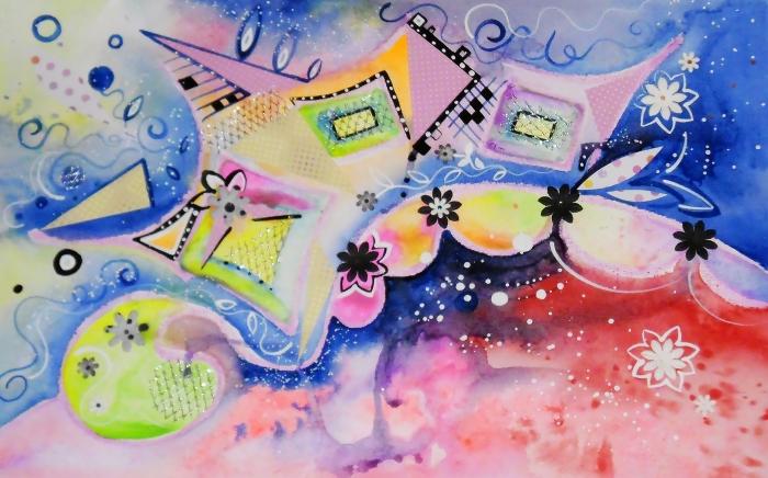 oboi-na-stol.com-232729-abstrakciya-risunok-figury-akvarel-cvety-kvadraty